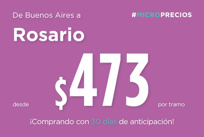 Comprá con hasta 30 días de anticipación y viajá a Rosario