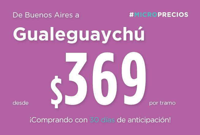 Comprá con hasta 30 días de anticipación y viajá a Gualeguaychú