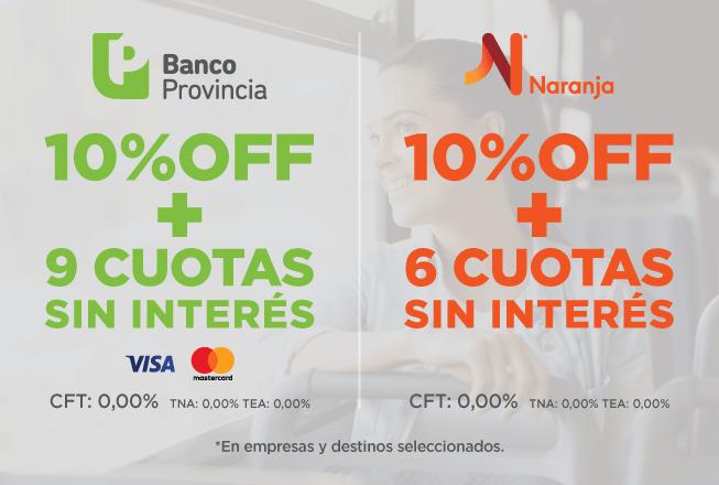 Promociones Banco Provincia y Tarjeta Naranja